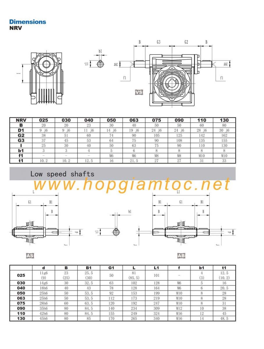 CATALOG WORM GEAR REDUCER RV