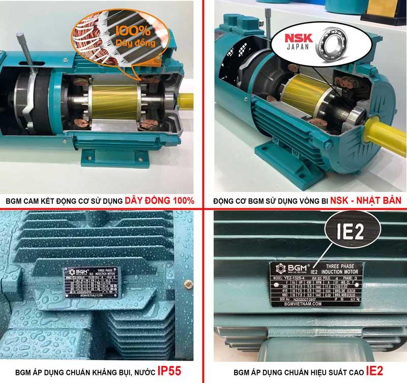 ưu điểm động cơ điện bgm
