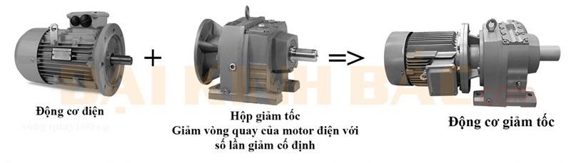 Cấu tạo motor giảm tốc chân đế R Series