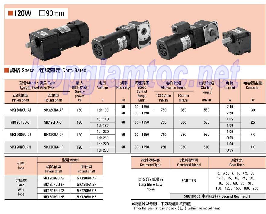 Motor 5IK120RGU-CF