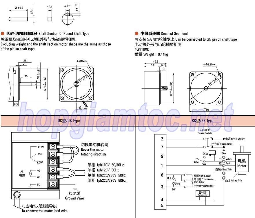 SPEED CONTROL MOTOR 25W 4IK25RGN-C, 4IK25RGN-A, 4IK25RGN-H, 4IK25RGN-E