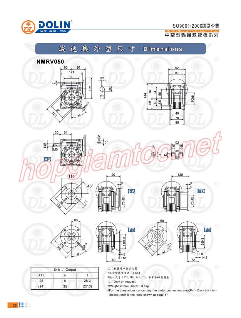 Thong-so-Worm-reducer-nmrv-size-50-71B5-Dai-Kinh-Bac