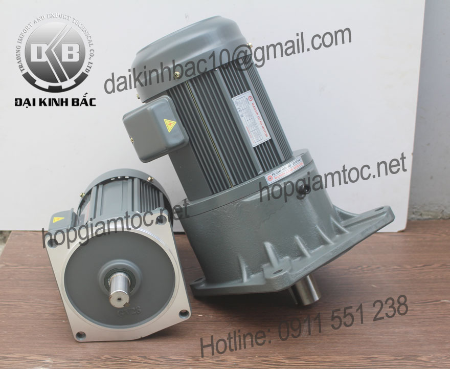 Motor giảm tốc Wansin mặt bích 0.2kw