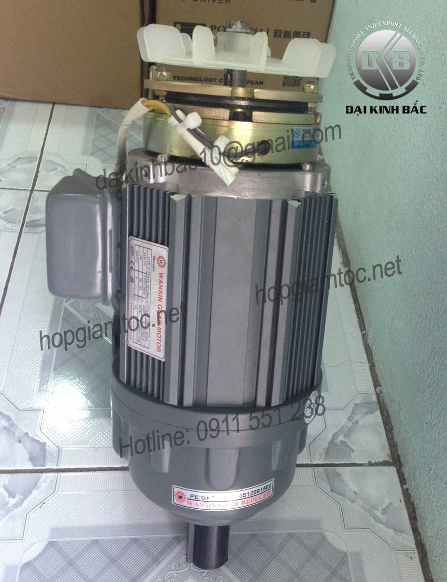 Motor giảm tốc Wansin mặt bích 3.7kw