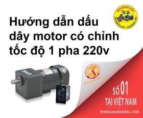Hướng dẫn đấu dây motor có chỉnh tốc độ 1 pha 220v