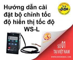 Hướng dẫn sử dụng bộ chỉnh WS-L