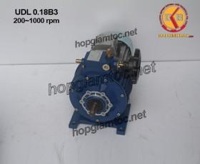 Motor điều tốc UDL 0.18kw B3 200~1000