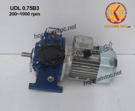 Motor điều tốc UDL B3 0.75kw 200~1000