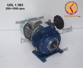Motor điều tốc UDL B3 1.1kw 200~1000