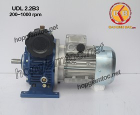 Motor điều tốc UDL B3 2.2kw 200~1000