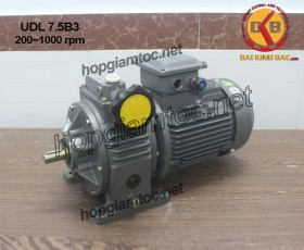 Motor điều tốc UDL B3 7.5kw 200~1000