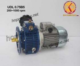 Motor điều tốc UDL B5 0.75kw 200~1000