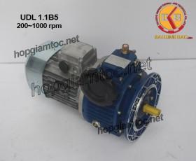 Motor điều tốc UDL B5 1.1kw 200~1000