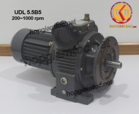 Motor điều tốc UDL B5 5.5kw 200~1000
