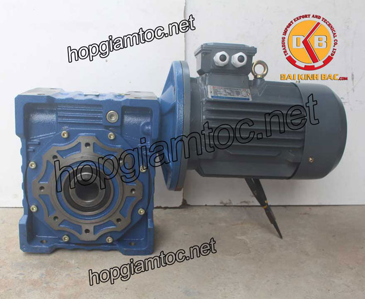 Motor giảm tốc cốt âm 5.5kw 7.5HP